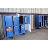 LOT CONSISTING OF STEEL LOCKERS (2 SECTIONS), 8-door