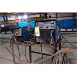 MIG WELDER, MILLER MDL. XMT456 INVERTER STYLE, 450 amps @ 38 v., 100% duty cycle, Miller 70 Series