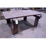 "STEEL WELDING TABLE, 38-1/2"" x 69-1/2"" x 1-3/4"" thk."