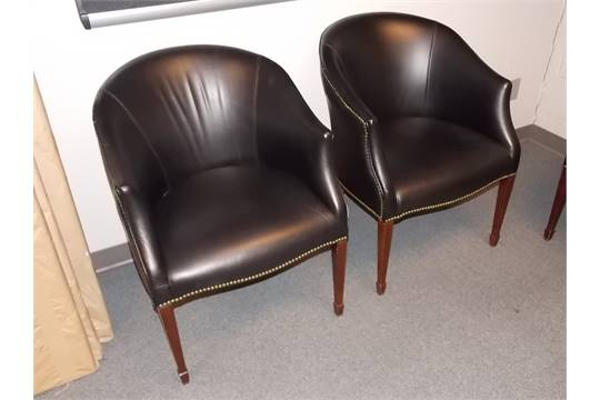 paoli black leather barrel back leather reception area chairs very