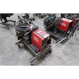 LINCOLN LF-74 WIRE FEEDER ON CART