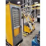 ITW GEMA powder coat system w powder manager w 6 powder gun controls Type PGC-1 in cabinet