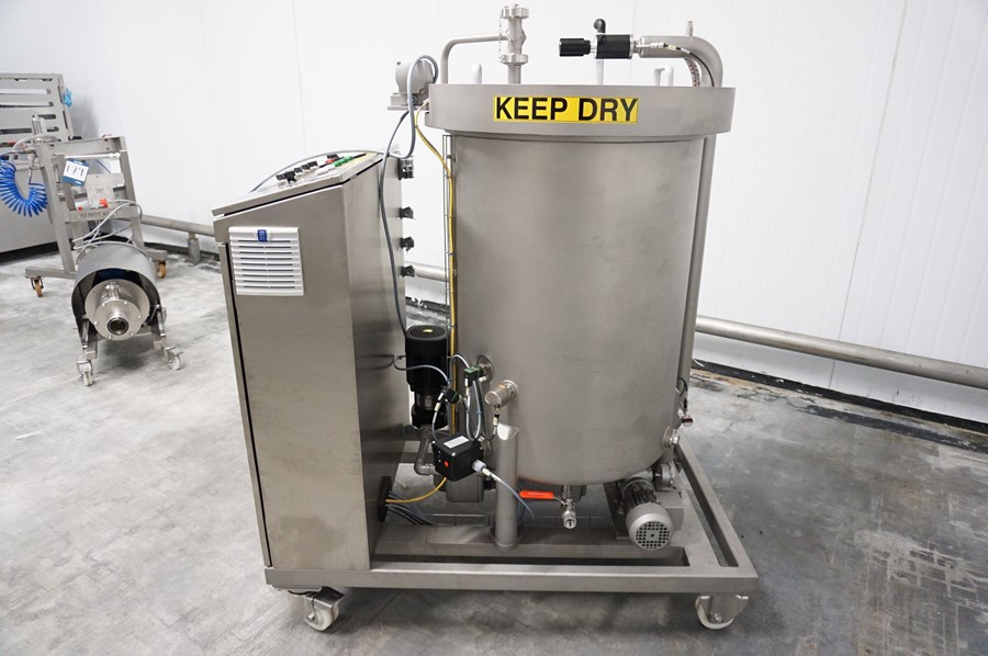 Lot 101 - Sollich, Model: RT 250-K VA, 250kg mobile chocolate melting tank, Serial No. 31454015 (2017) with