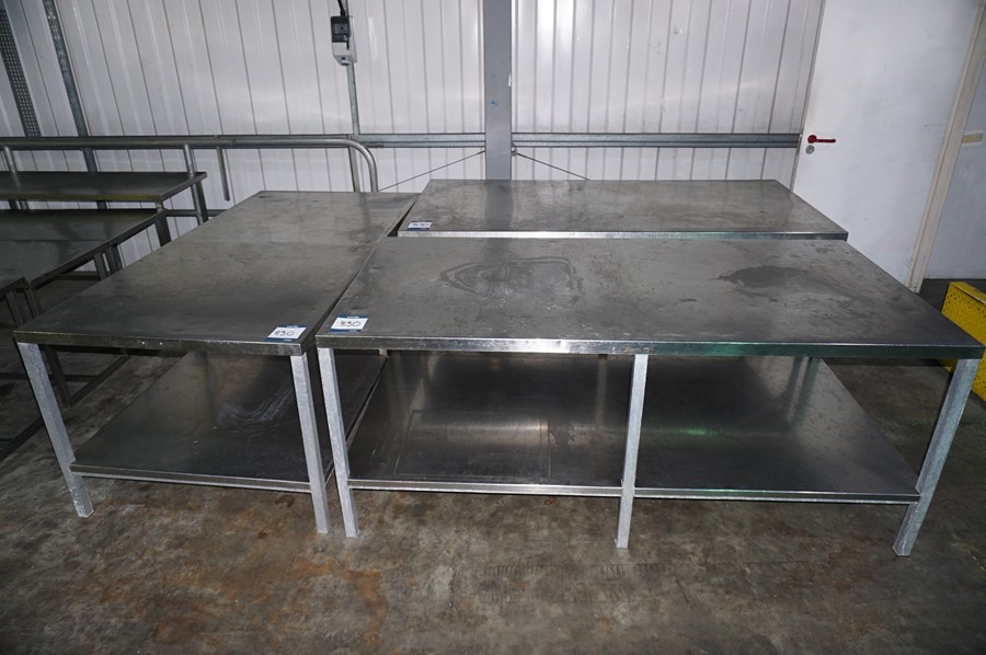 3 x Various stainless steel prep tables, as lotted - Image 2 of 2