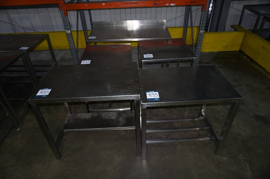 5 x Various stainless steel prep tables, as lotted - Image 2 of 2