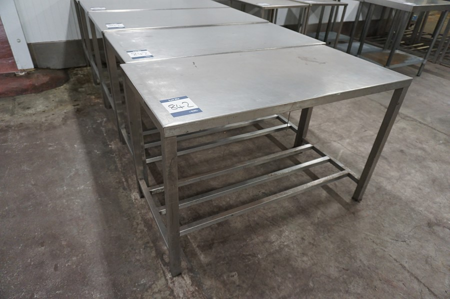 5 x Various stainless steel prep tables, as lotted