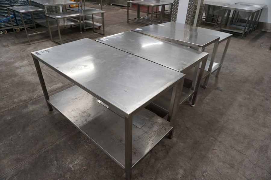 Lot 836 - 4 x Various stainless steel prep tables, as lotted
