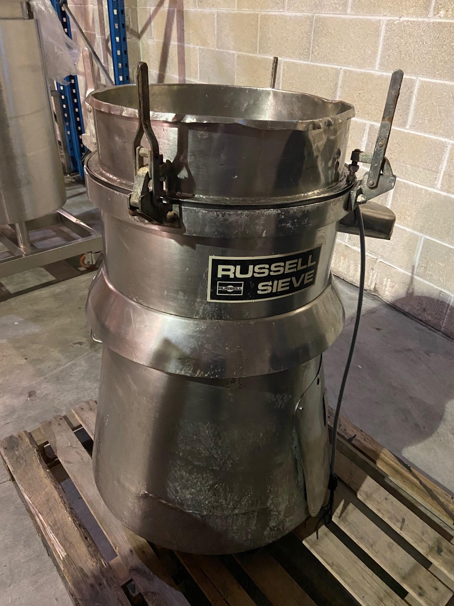 Lot 147 - Russell, mobile vibrating flour sieve hopper