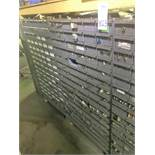 96 Compartment Bolt Bin with Contents of Assorted Hardware