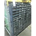 94 Compartment Bolt Bin with Contents of Assorted Pipe Hardware