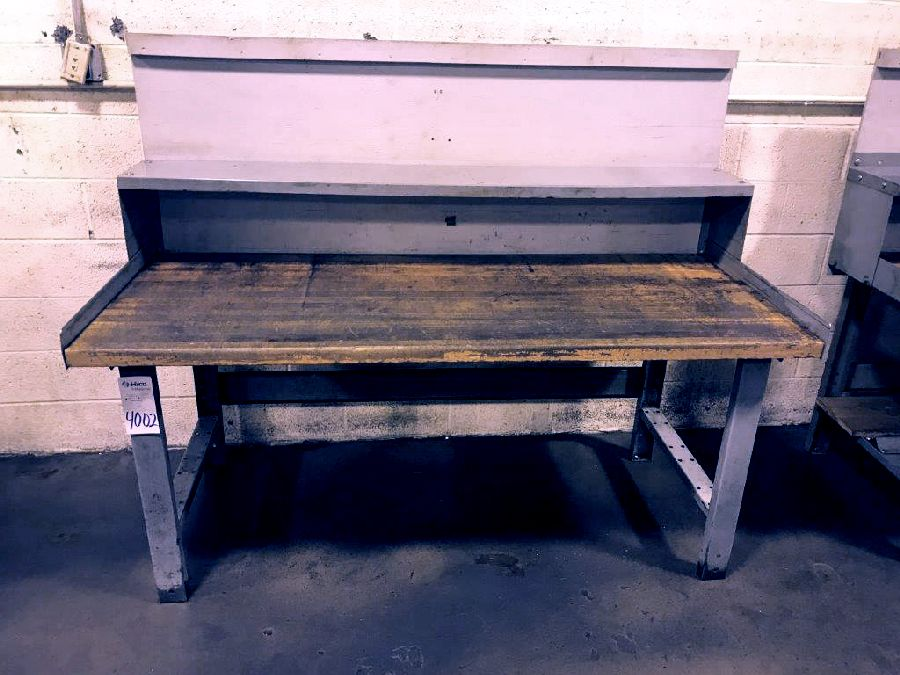 """30"""" X 72"""" Wood Top Table"""