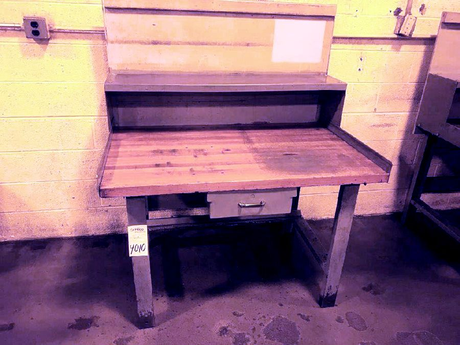 """30"""" X 48"""" Wood Top Table"""