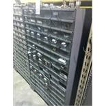 96 Compartment Bolt Bin with Contents of Conduit Fitting Hardware