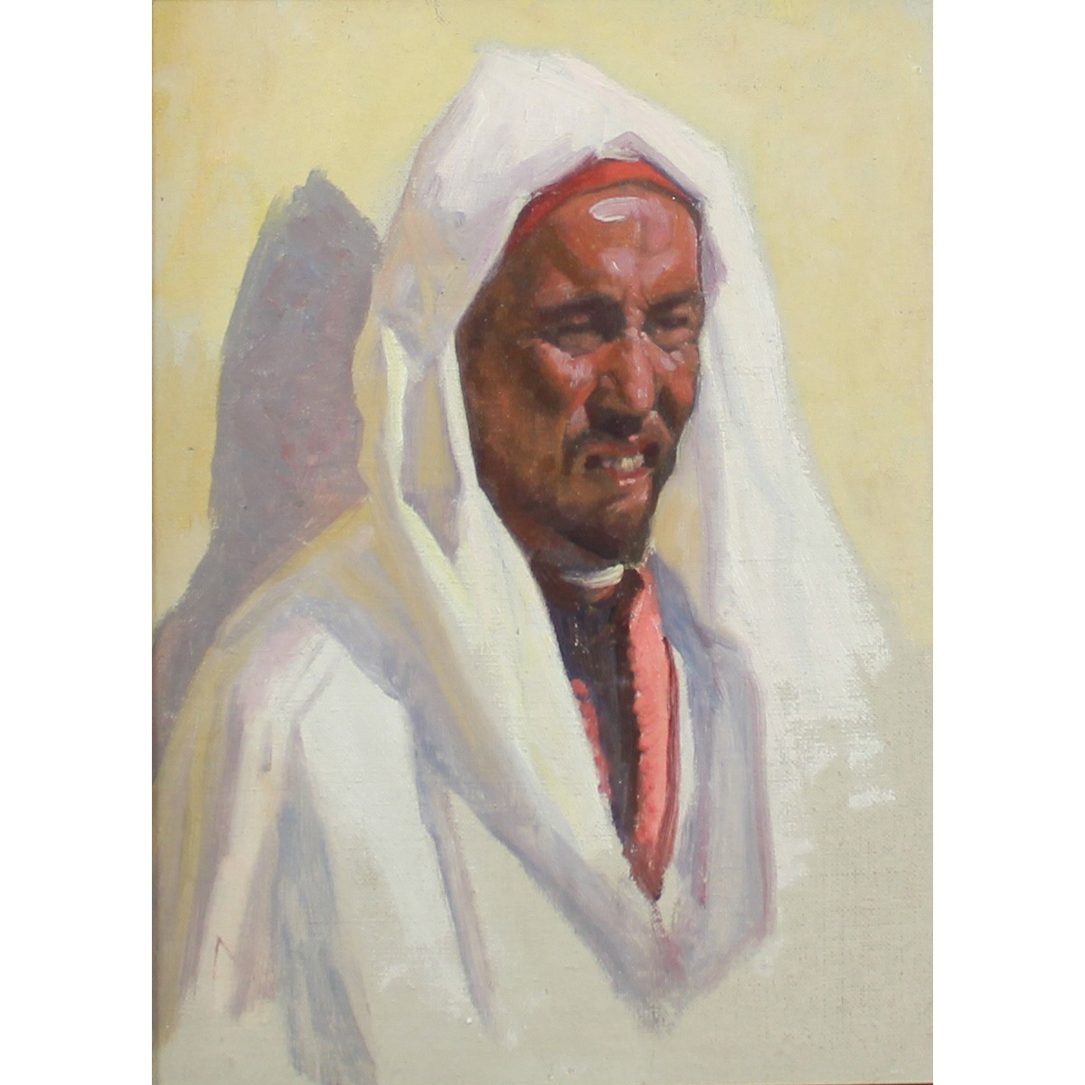 Lot 23 - Coutts, Gordon 1868-1937 Scottish AR, Portrait of an Arab Man.