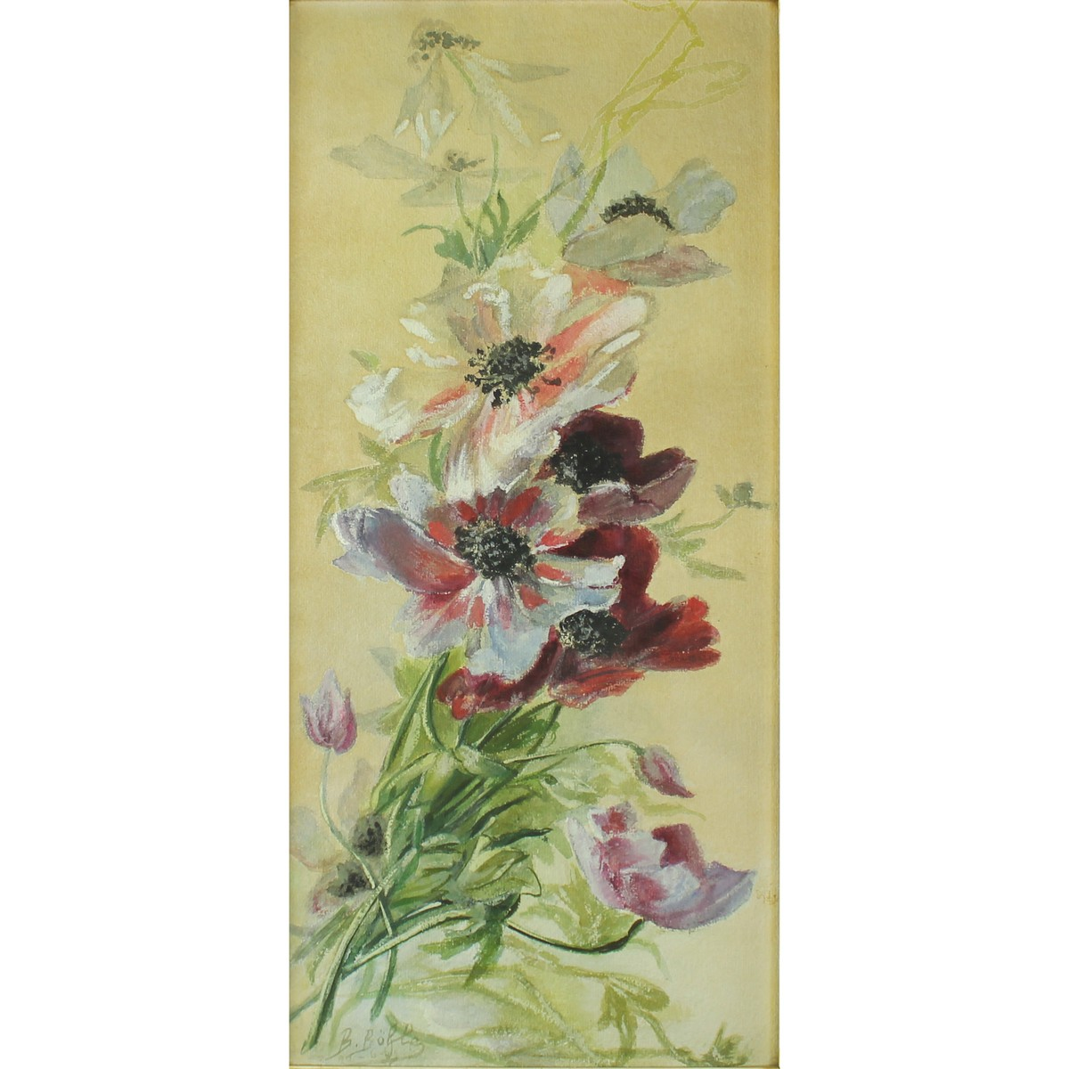 Lot 59 - Buhley,B? Nineteenth Century, Flowers