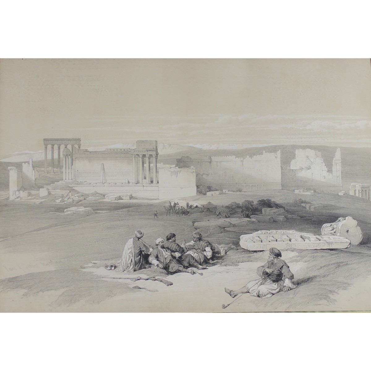 Lot 44 - Roberts, David 1796-1864 British, Ruins of Baalbec.