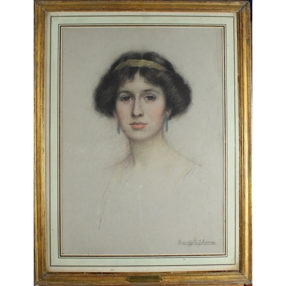 Lot 21 - Johnson, Bradford Nineteenth-Twentieth Century, British, Portrait of a Lady.