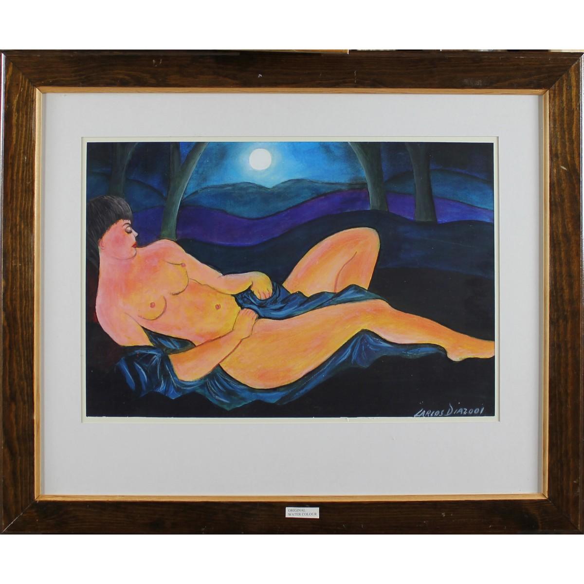Lot 3 - Diaz, Lorius Contemporary Recumbent Nude