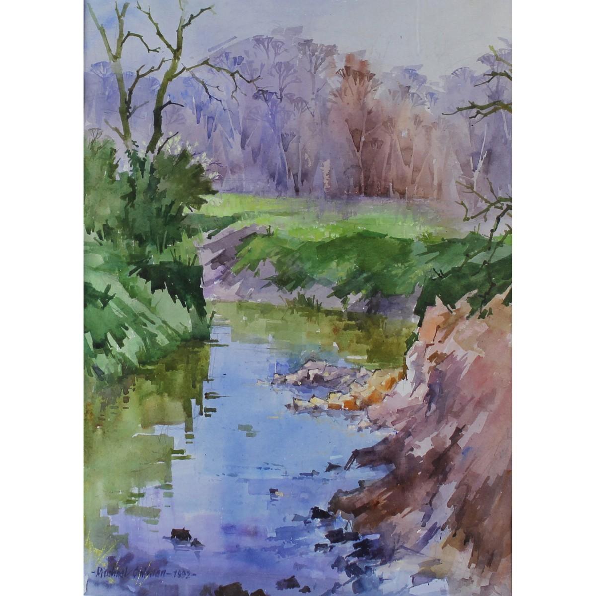 Lot 57 - Cadman, Michael Lawrence 1920-2010 British AR, Stream near Leigh.