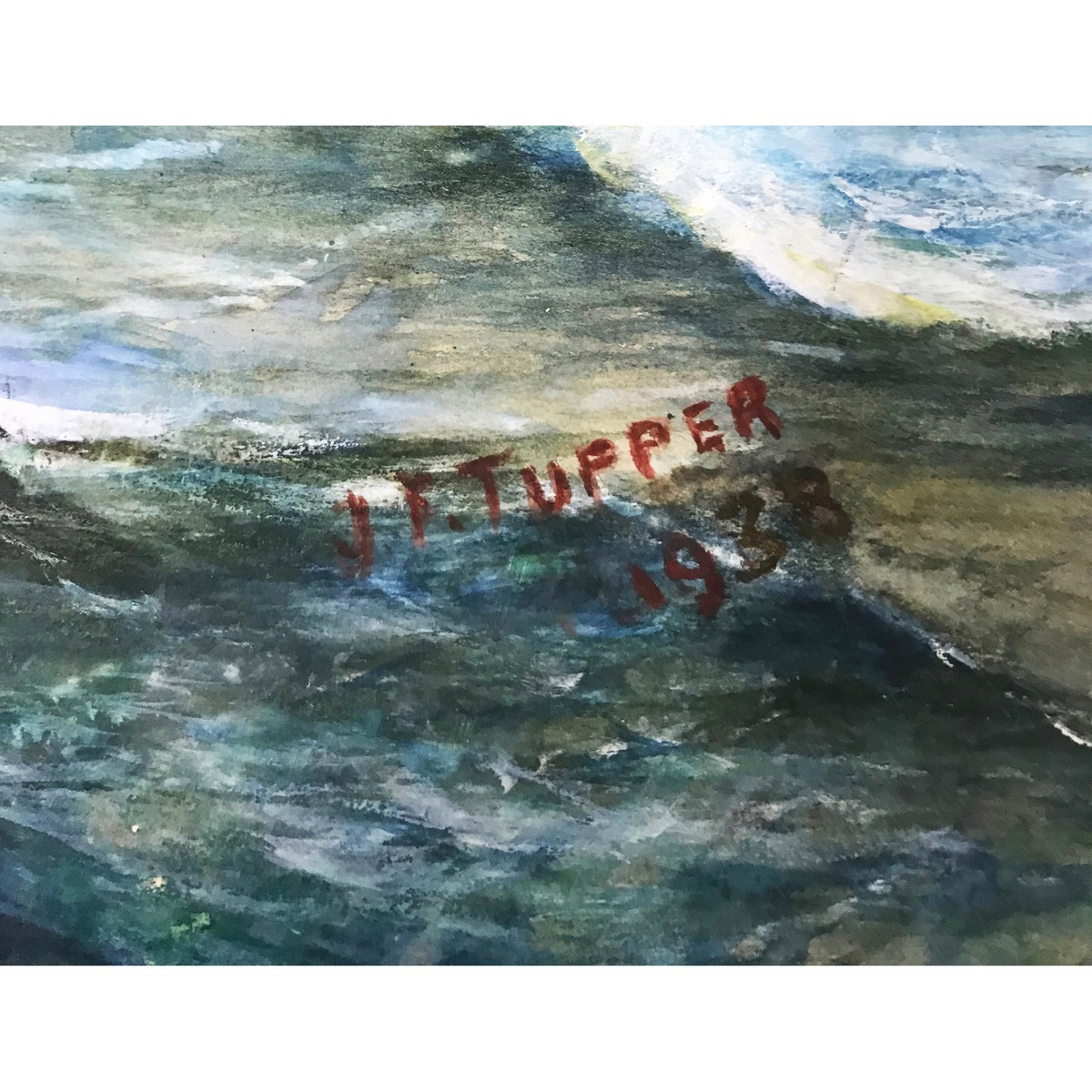 Lot 4 - Tupper J.T. British Twentieth Century, Waves