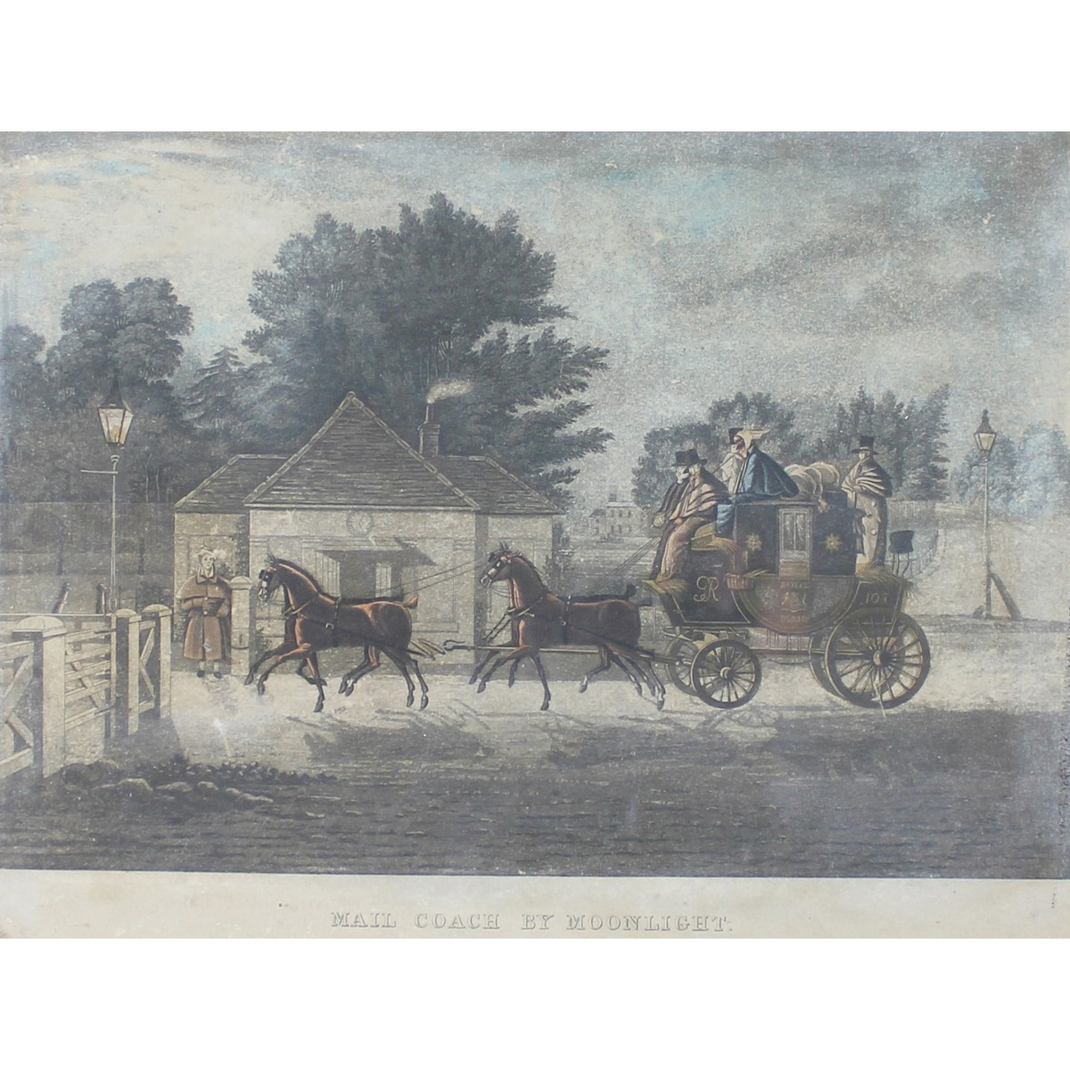 Lot 62 - Royal Mail Starting from the Post Office, Mail Coach by Moonlight.