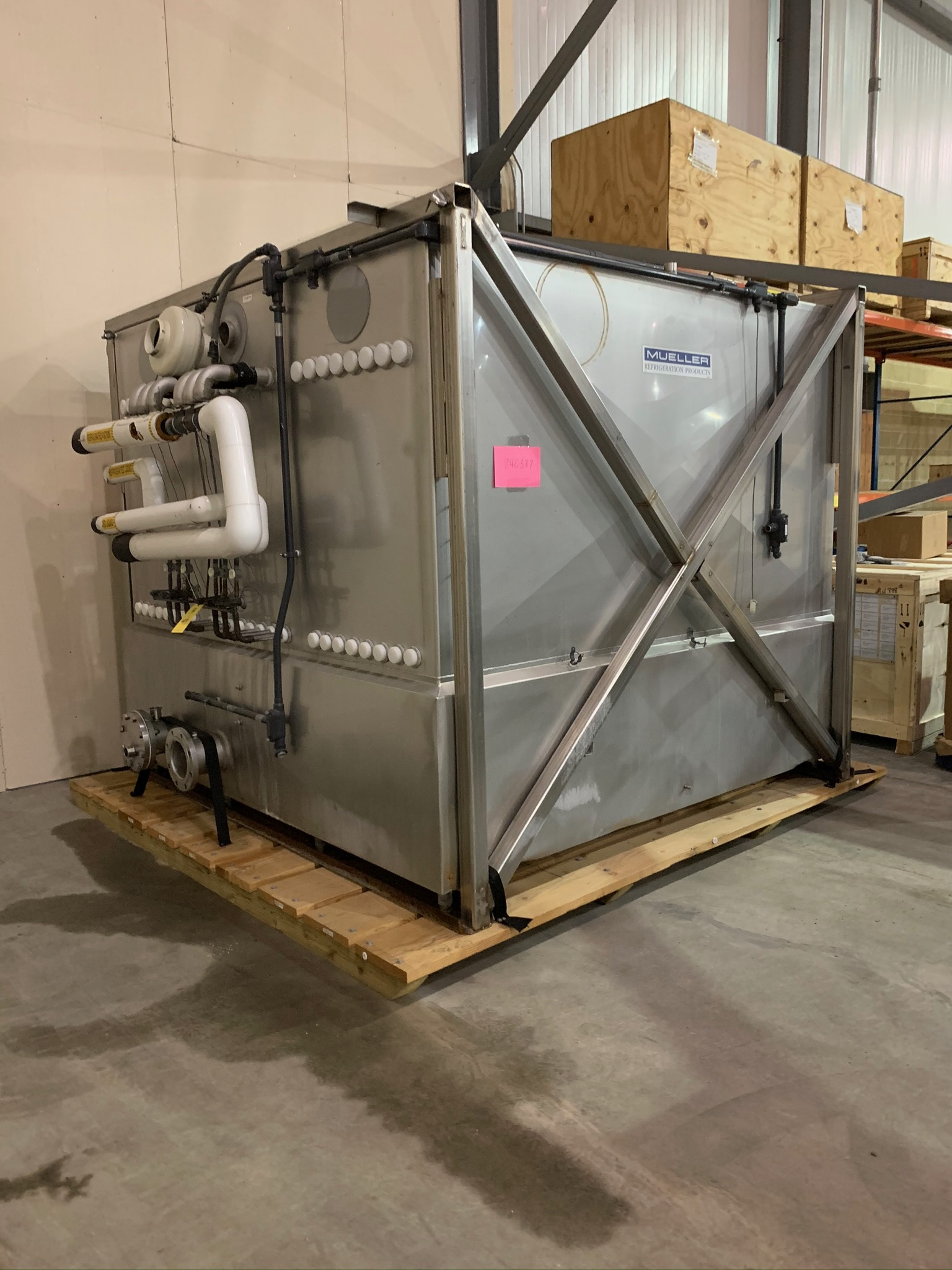 Mueller Water Chiller Model LLIN-06-B113 S/N 1206035-1 (Rigging Fee - $500)