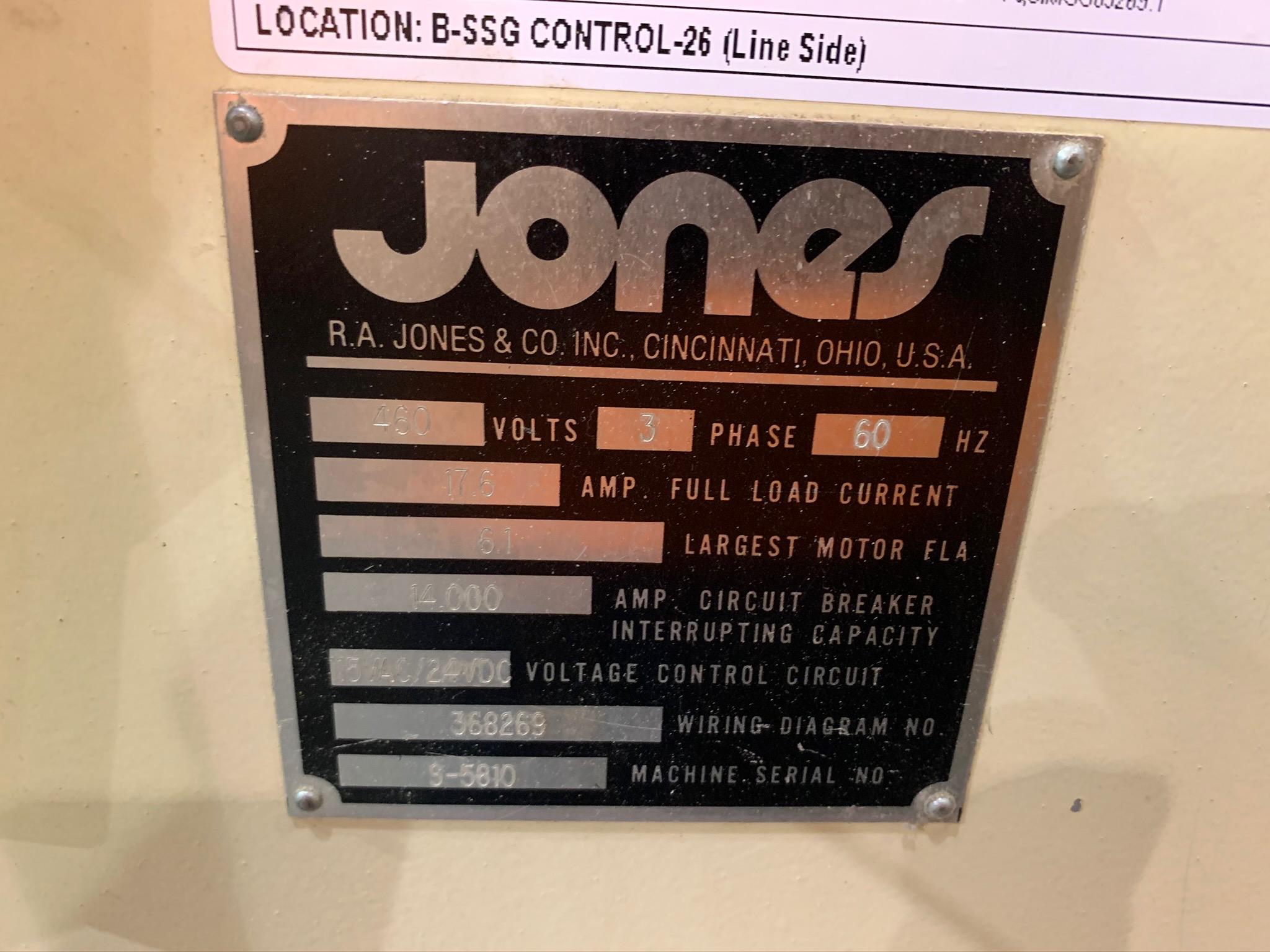 Jones Centurion Side Seam Gluer S/N S-5810 (Rigging Fee - $250) - Image 6 of 8