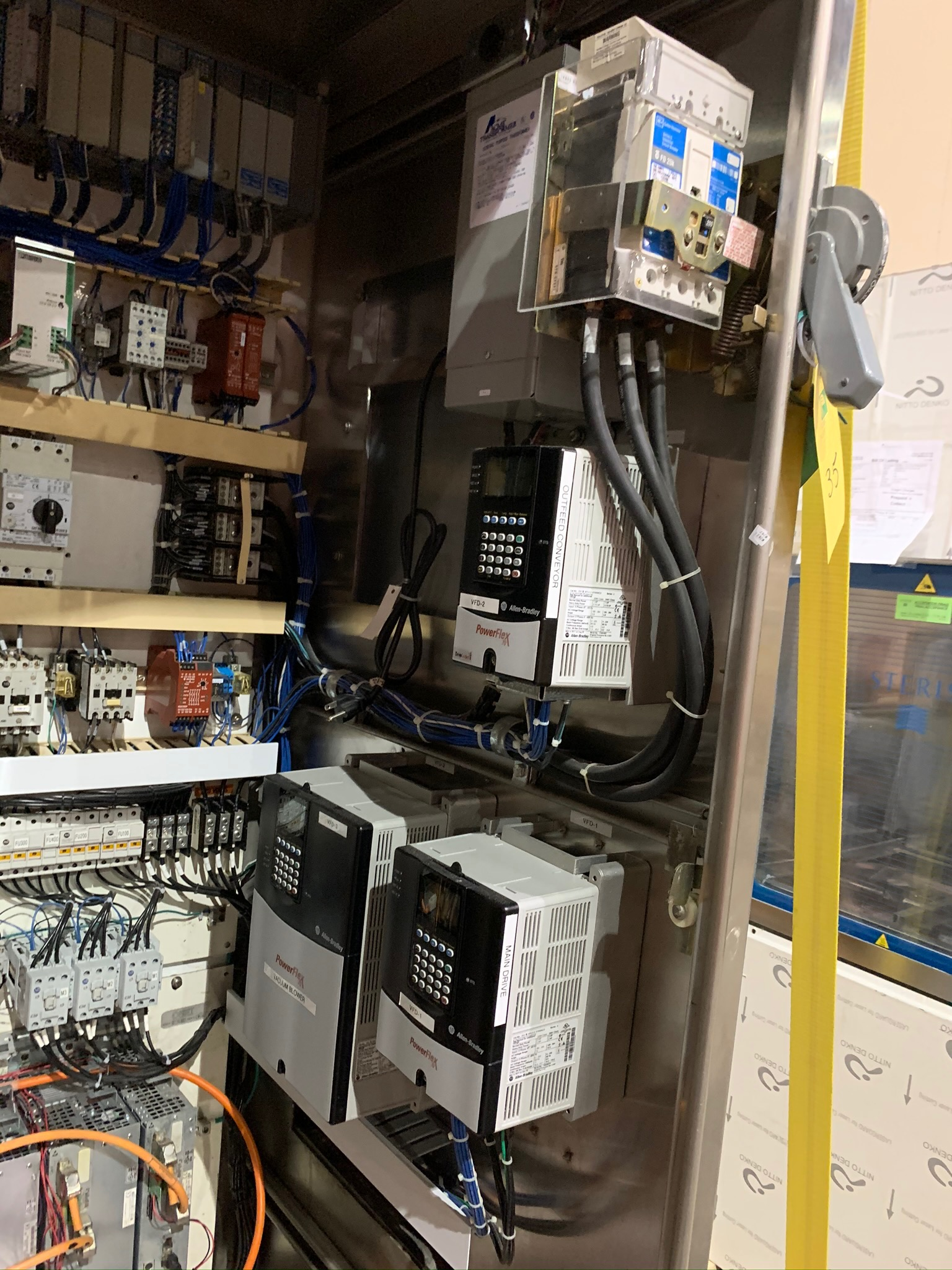 Control Panel with Allen Bradley PowerFlex Units and Boards. Blower Fan also included (Rigging Fee - - Image 5 of 6