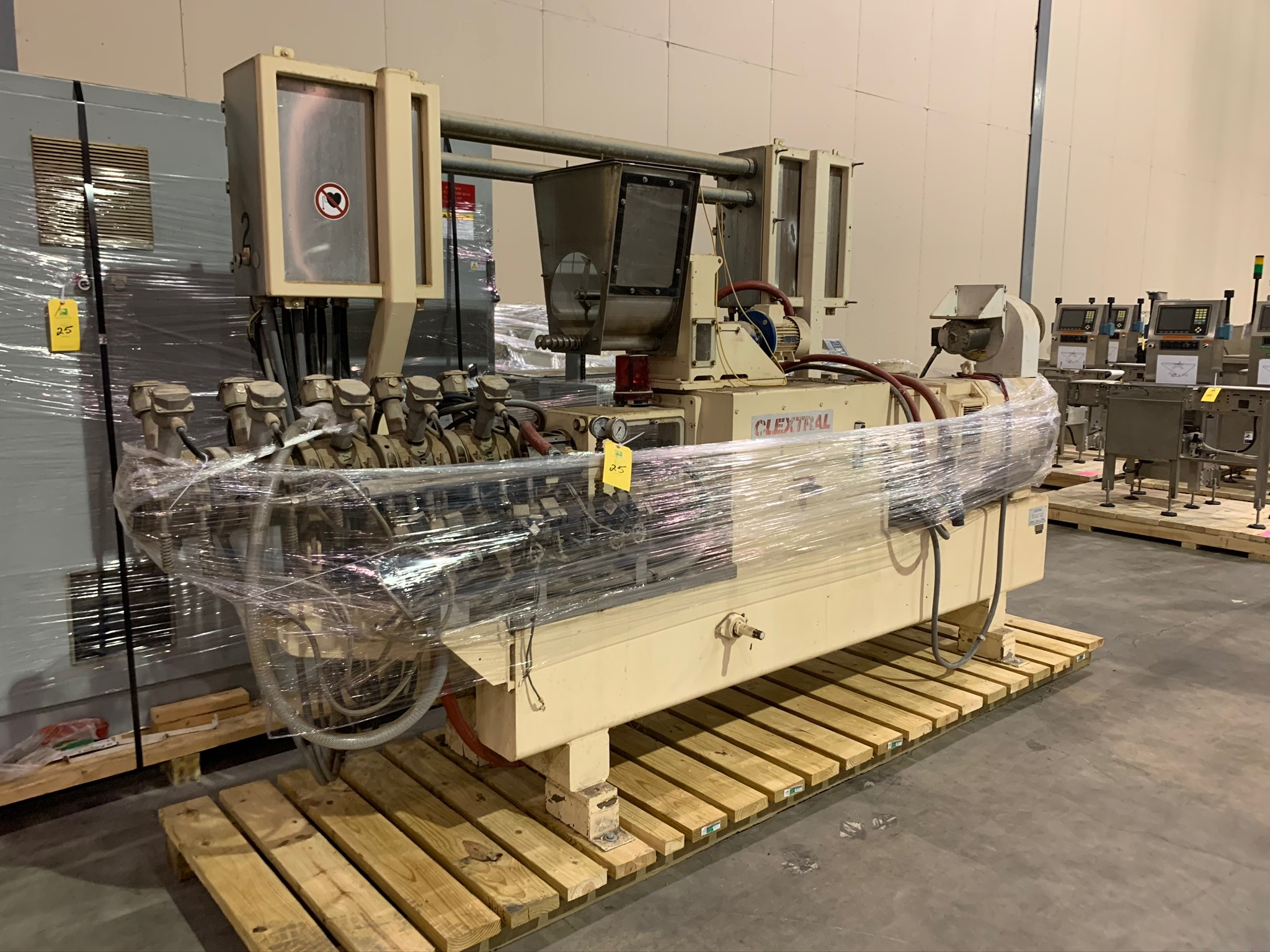 Clextral Extruder Model BC4 S/N 5100909 with Contol Panel and Air Dryer (Rigging Fee - $500)