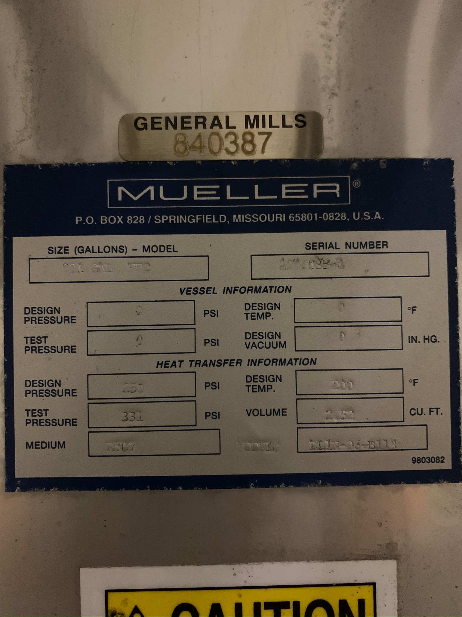 Mueller Water Chiller Model LLIN-06-B113 S/N 1206035-1 (Rigging Fee - $500) - Image 4 of 6