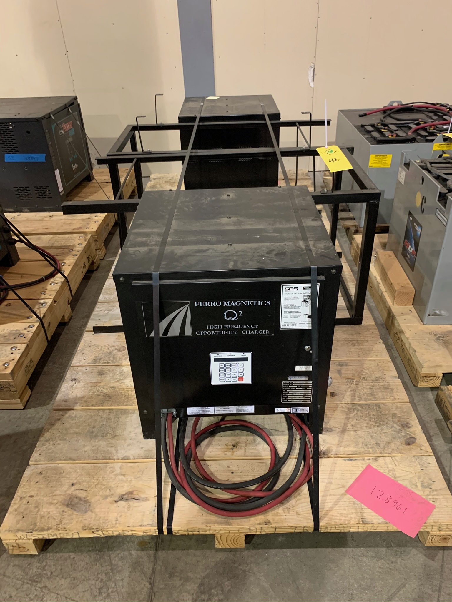 Lot 46 - Lot of (2) Ferro Magnetics Q2 High Frequency Battery Chargers Model OHF12-1200E3 FMHF S/N (Rigging F