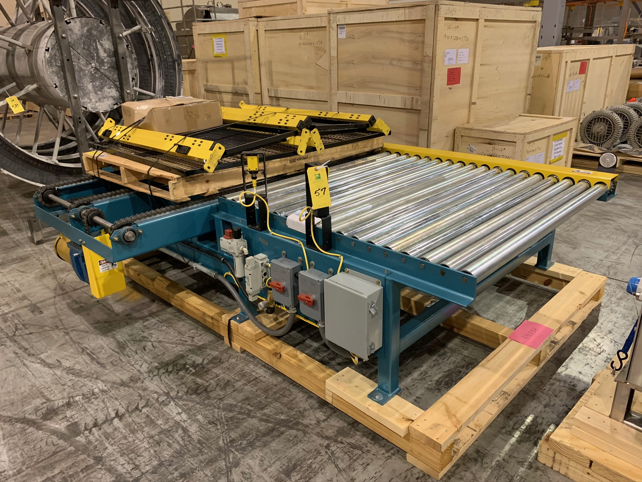 Kaufman Roller Conveyor with Cross Chain (Rigging Fee - $250) - Image 3 of 3