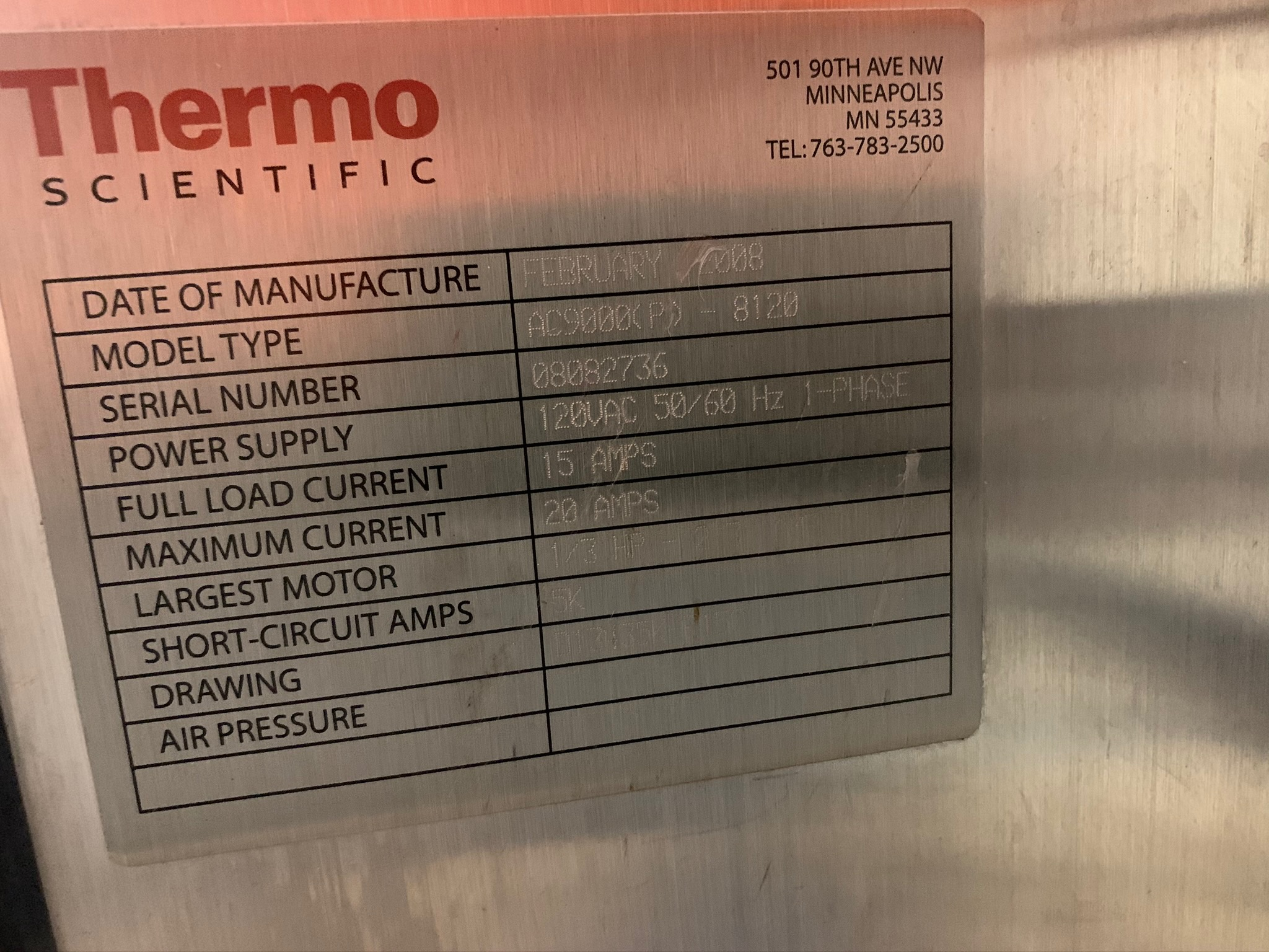 Thermo Scientific Check Weigher Model AC9000(p) -8120 S/N 08082736 (Rigging Fee - $50) - Image 4 of 4