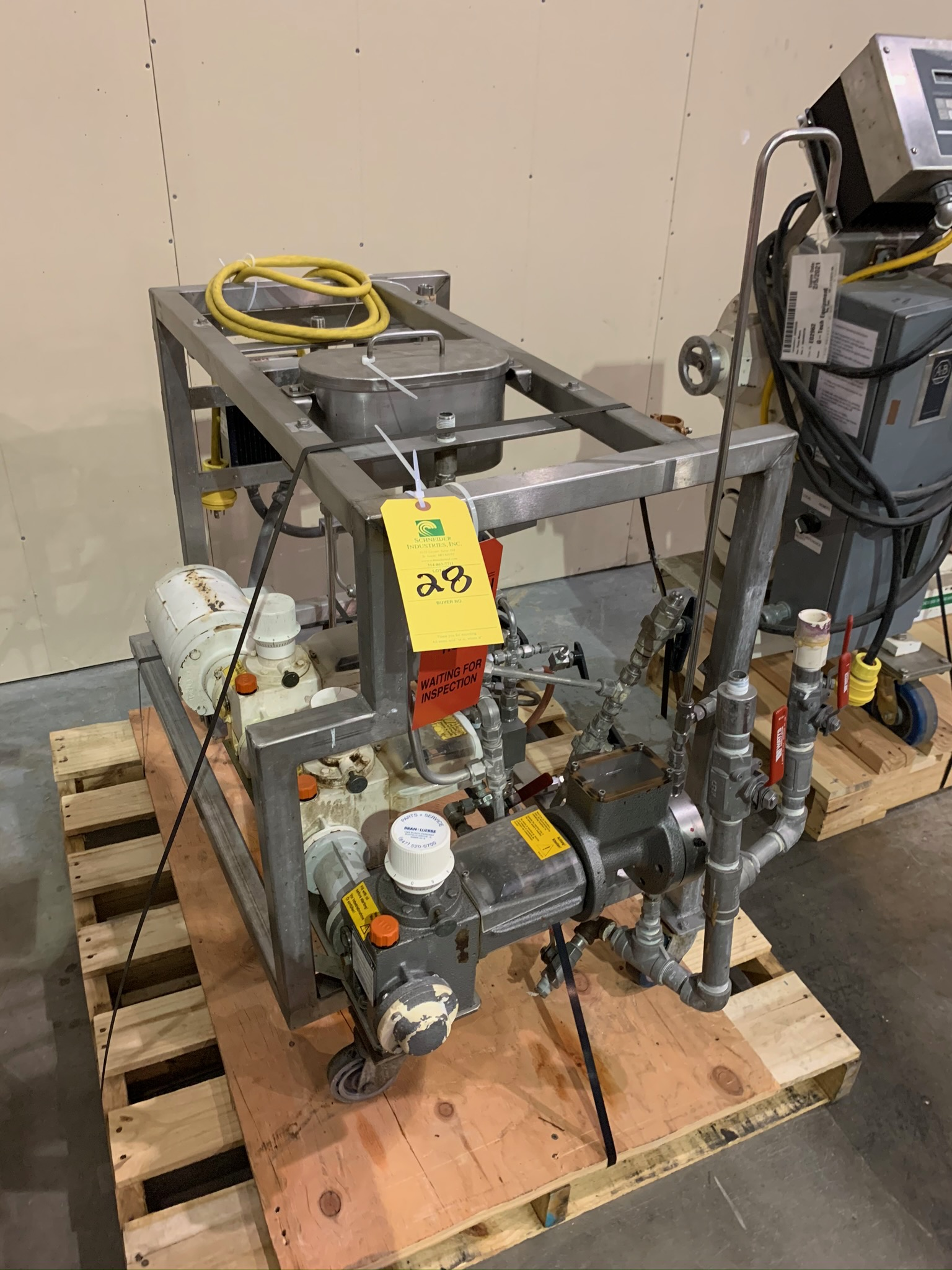 Lot 28 - Ingreident Feeding Pump System Unknown OEM (Rigging Fee - $50)