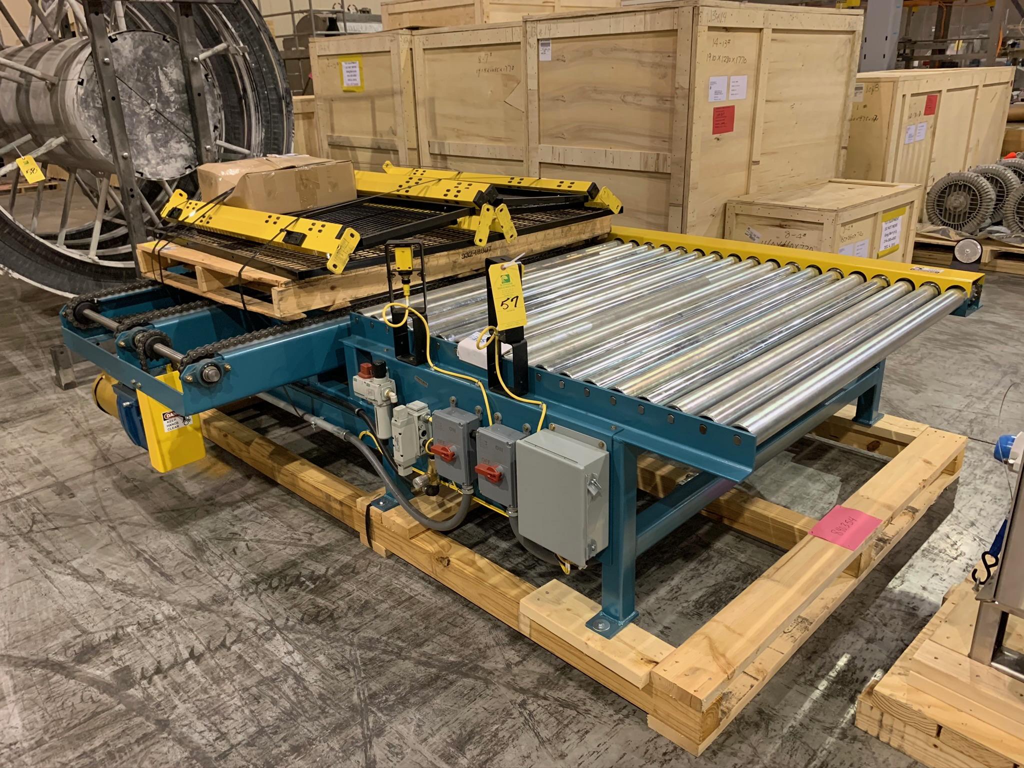 Lot 57 - Kaufman Roller Conveyor with Cross Chain (Rigging Fee - $250)