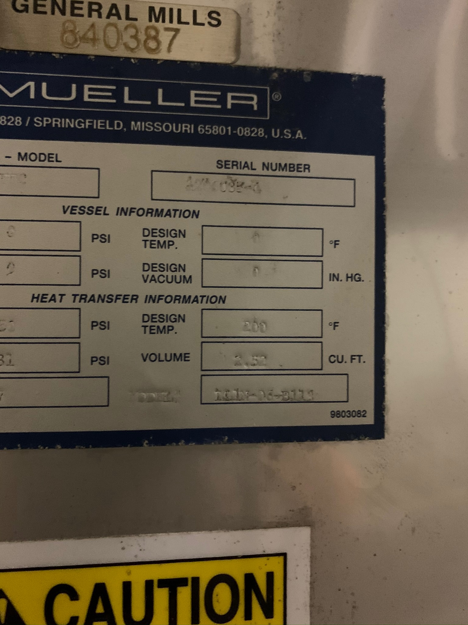 Mueller Water Chiller Model LLIN-06-B113 S/N 1206035-1 (Rigging Fee - $500) - Image 6 of 6