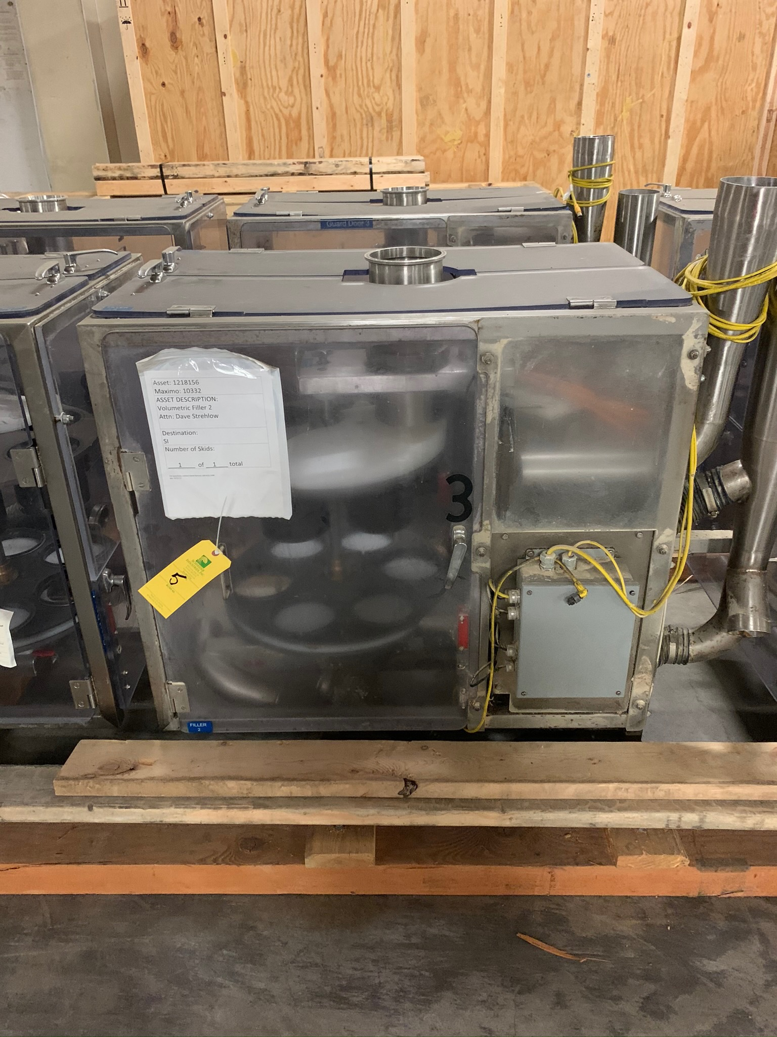 Lot 5 - Lot of (2) Speedee Volumetic Fillers S/N 5925A and 5924B with Surge Hoppers and Control Panel (Riggi