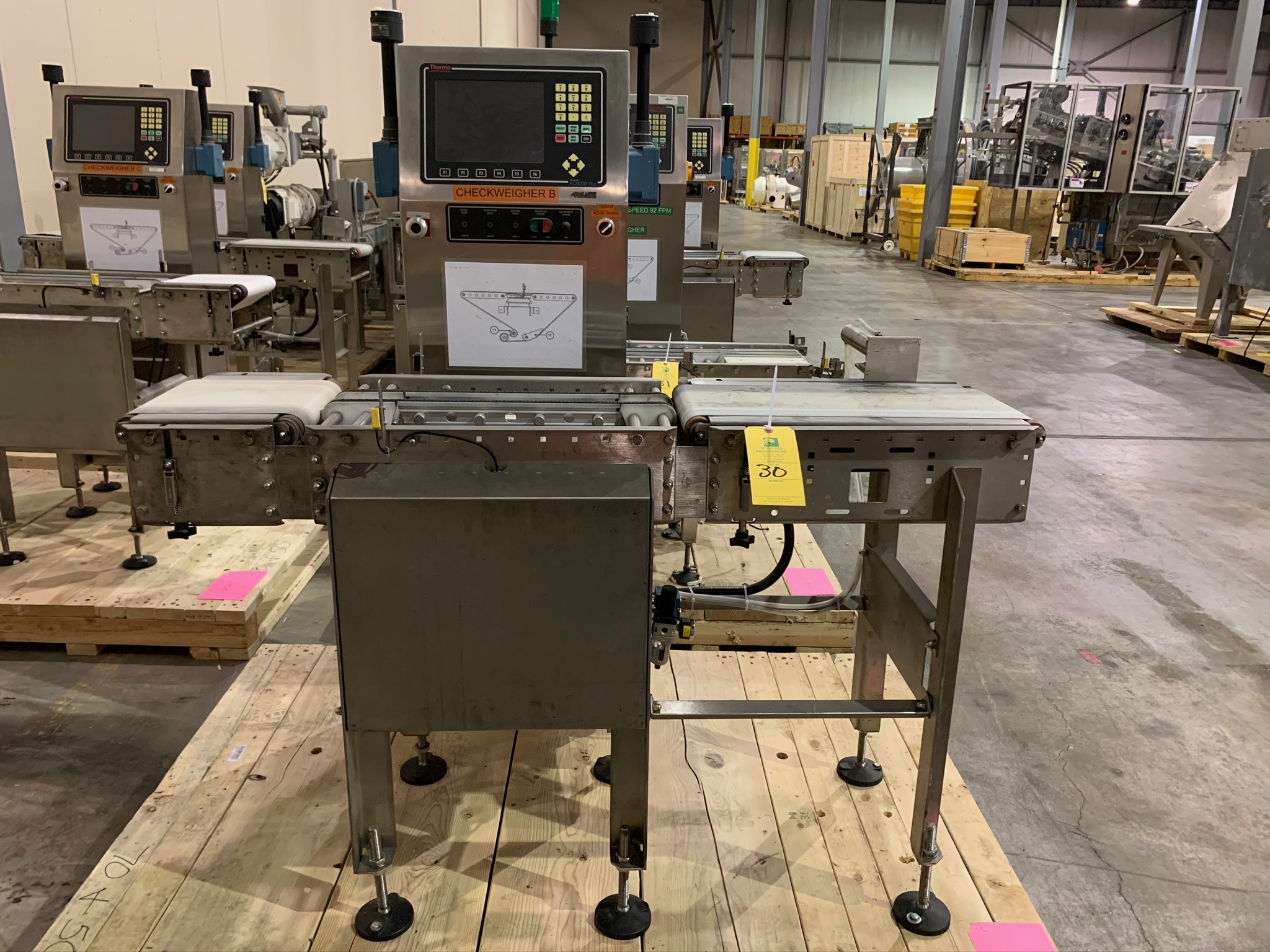 Lot 30 - Thermo Scientific Check Weigher Model AC9000(p) -8120 S/N 08082739 (Rigging Fee - $50)