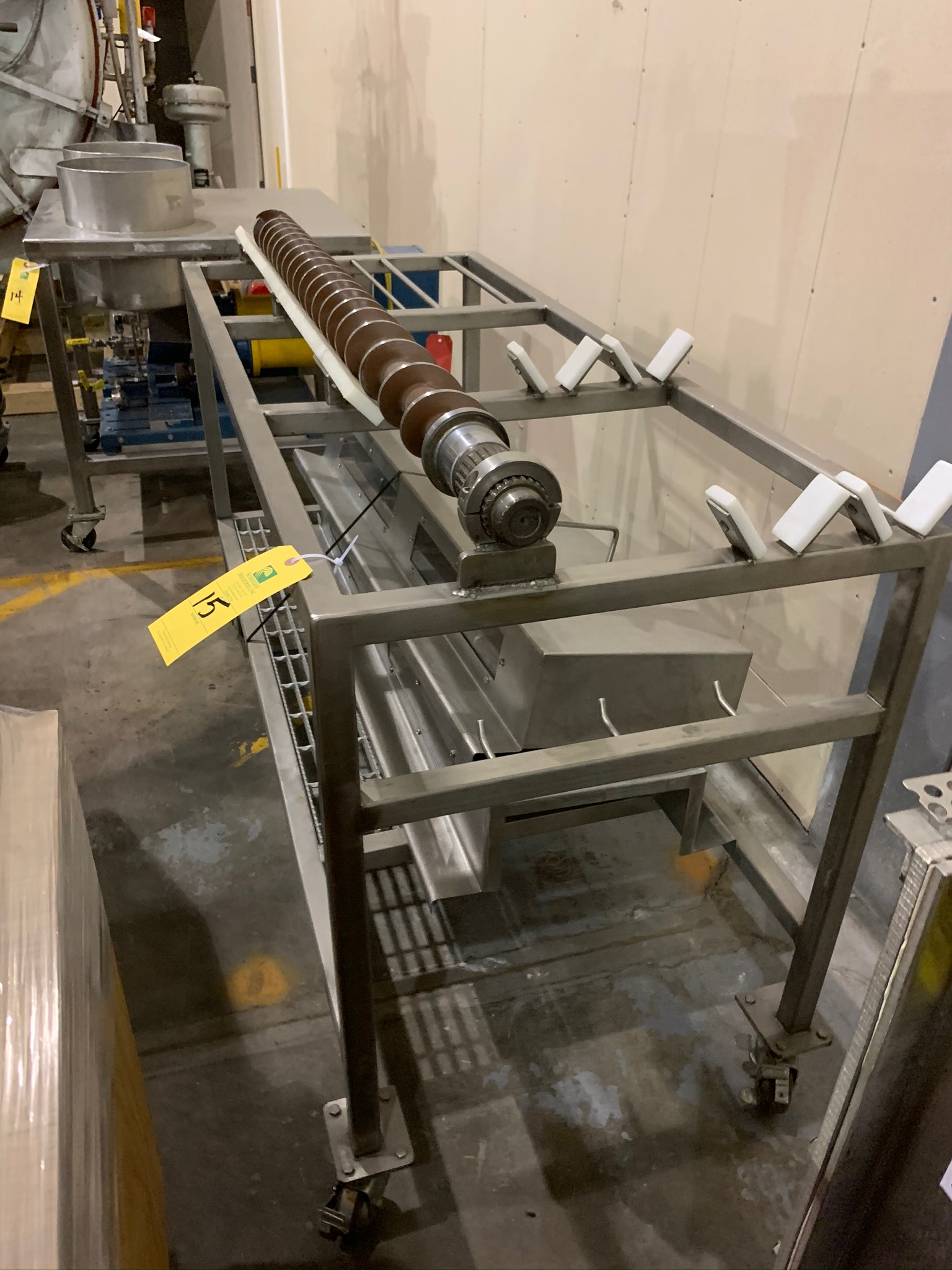 Lot 15 - Buhler Twin Screw Extruder Model M-MN-400 S/N 10321928 with Control Panels and Auger Cart, with (Rig