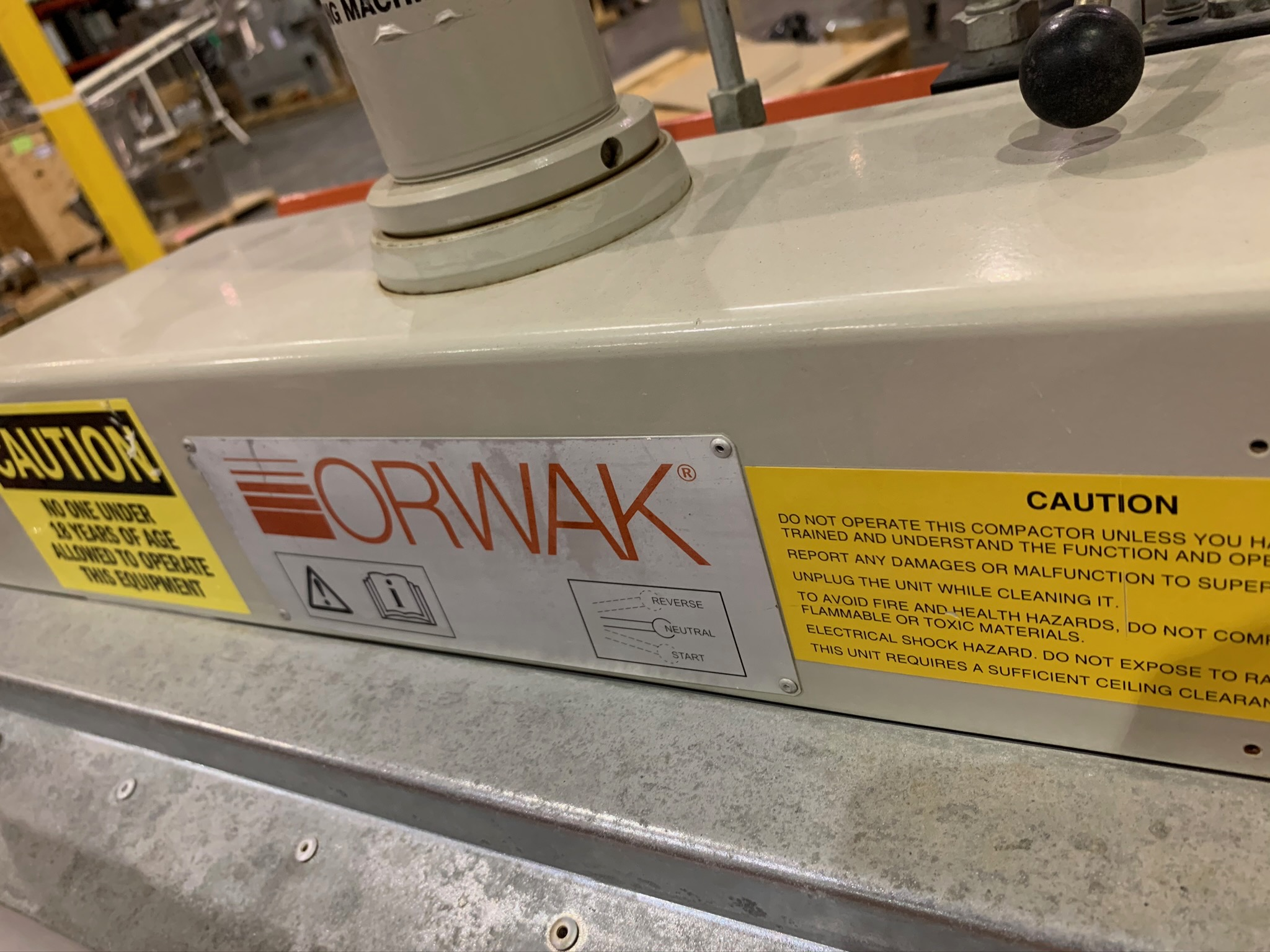 Orwak Compactor Model Compactor 5010 E S/N 103771 (Rigging Fee - $50) - Image 2 of 4