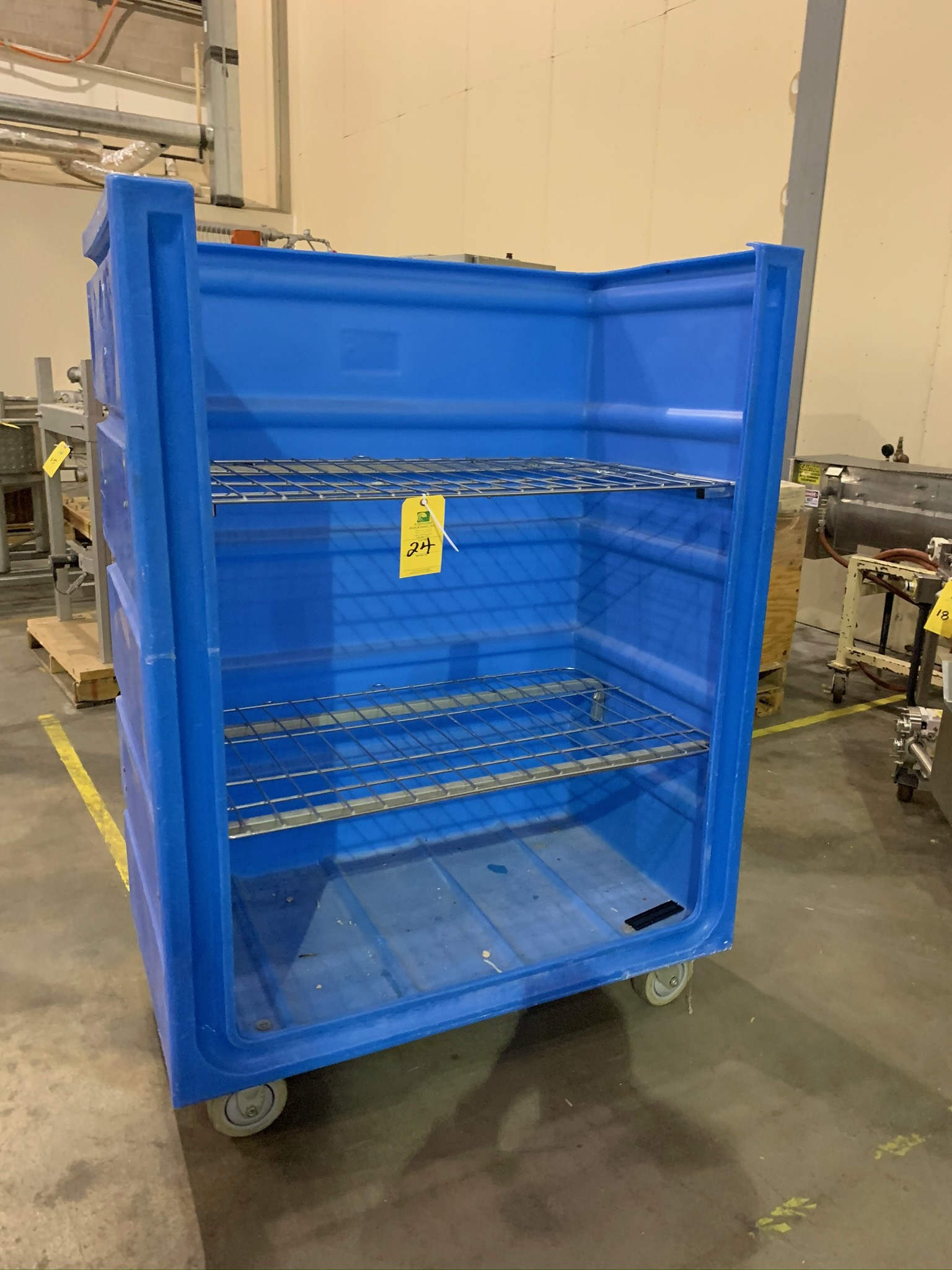 Lot 24 - Plastic Portable Product Cart (Rigging Fee - $25)