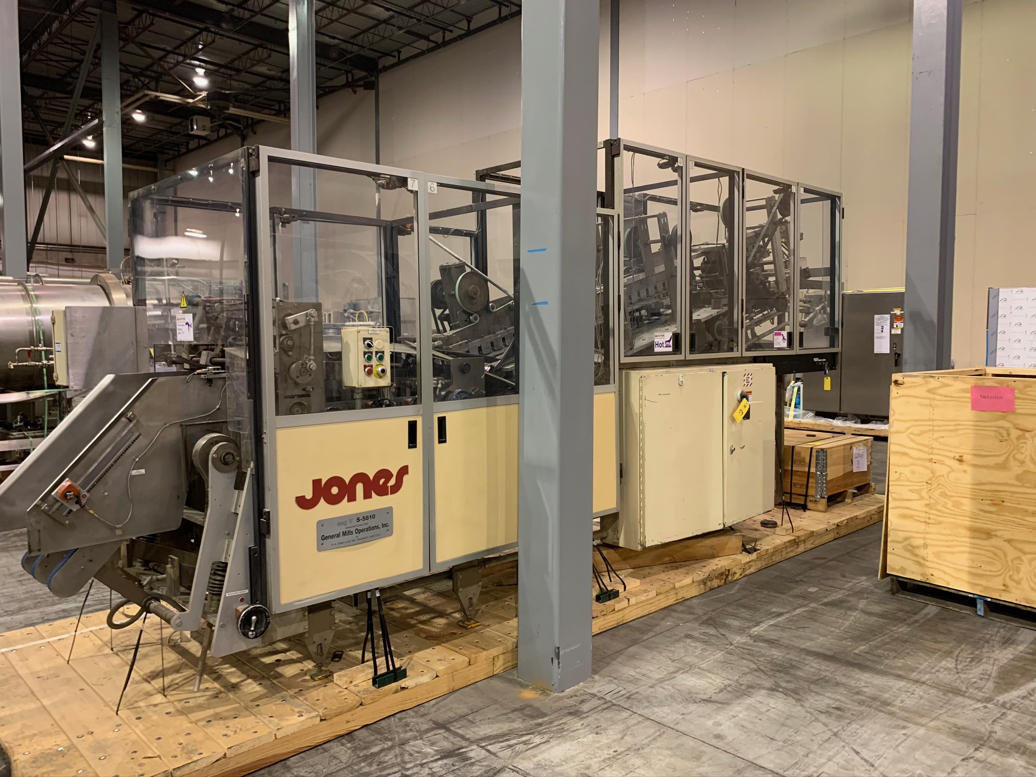 Jones Centurion Side Seam Gluer S/N S-5810 (Rigging Fee - $250)