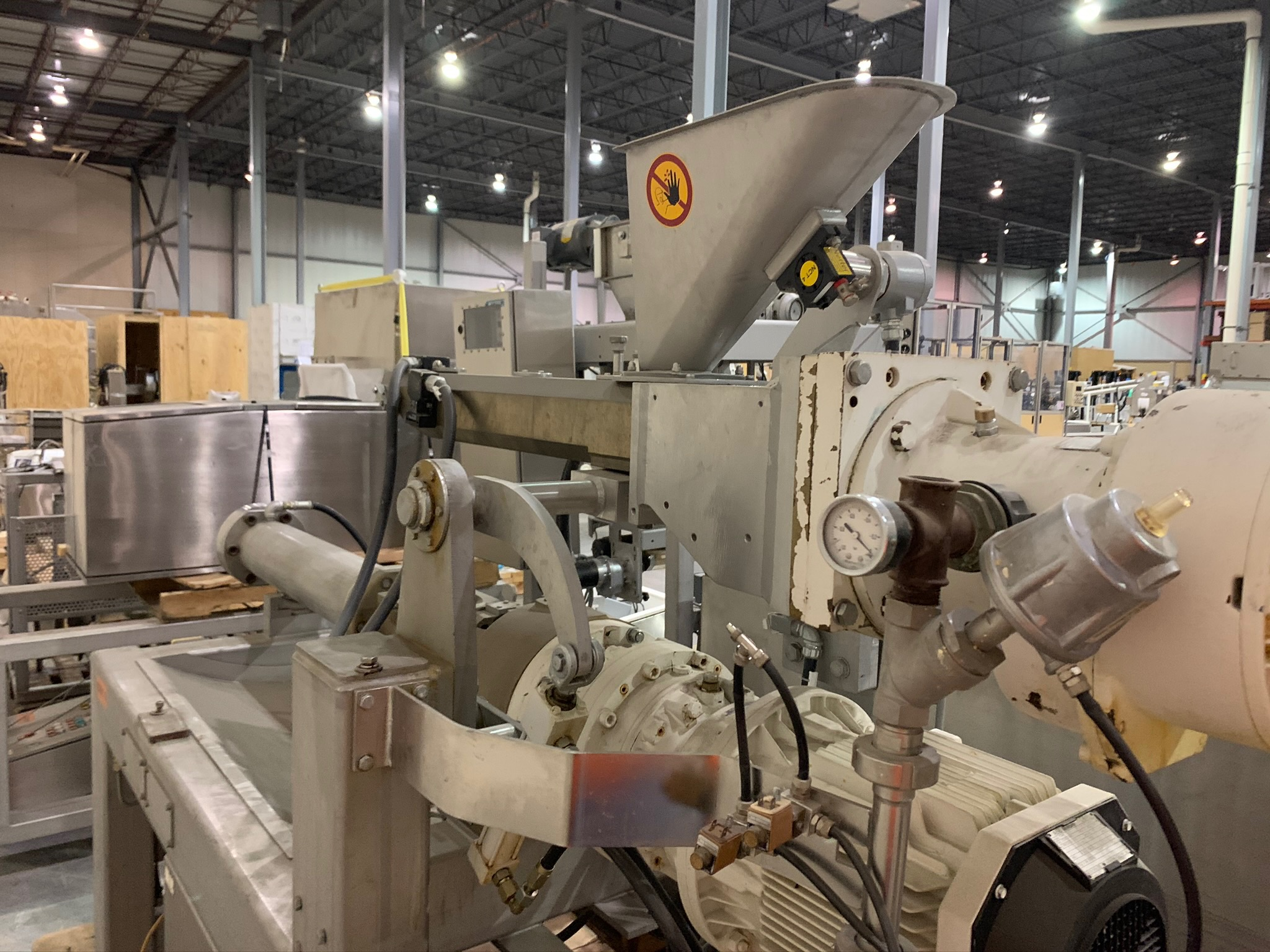 Buhler Twin Screw Extruder Model M-MN-400 S/N 10321928 with Control Panels and Auger Cart, with (Rig - Image 2 of 9