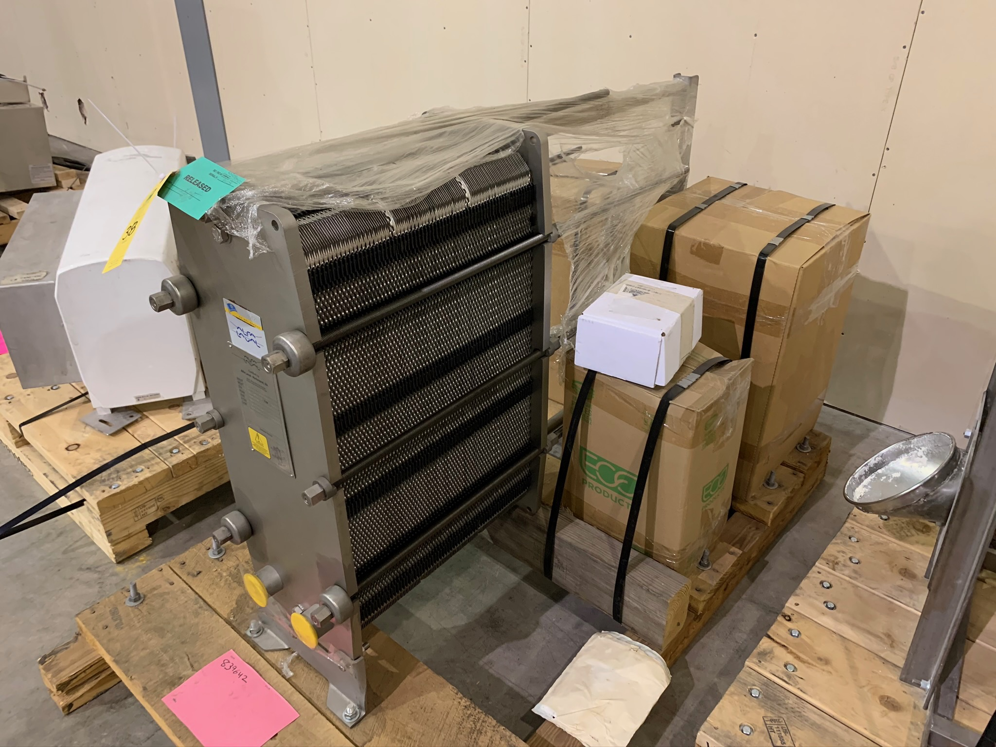 Lot 38 - Alfa Laval Plate and Frame Heat Exchanger Model M6-MBASE S/N 30113-89775 (Rigging Fee - $50)