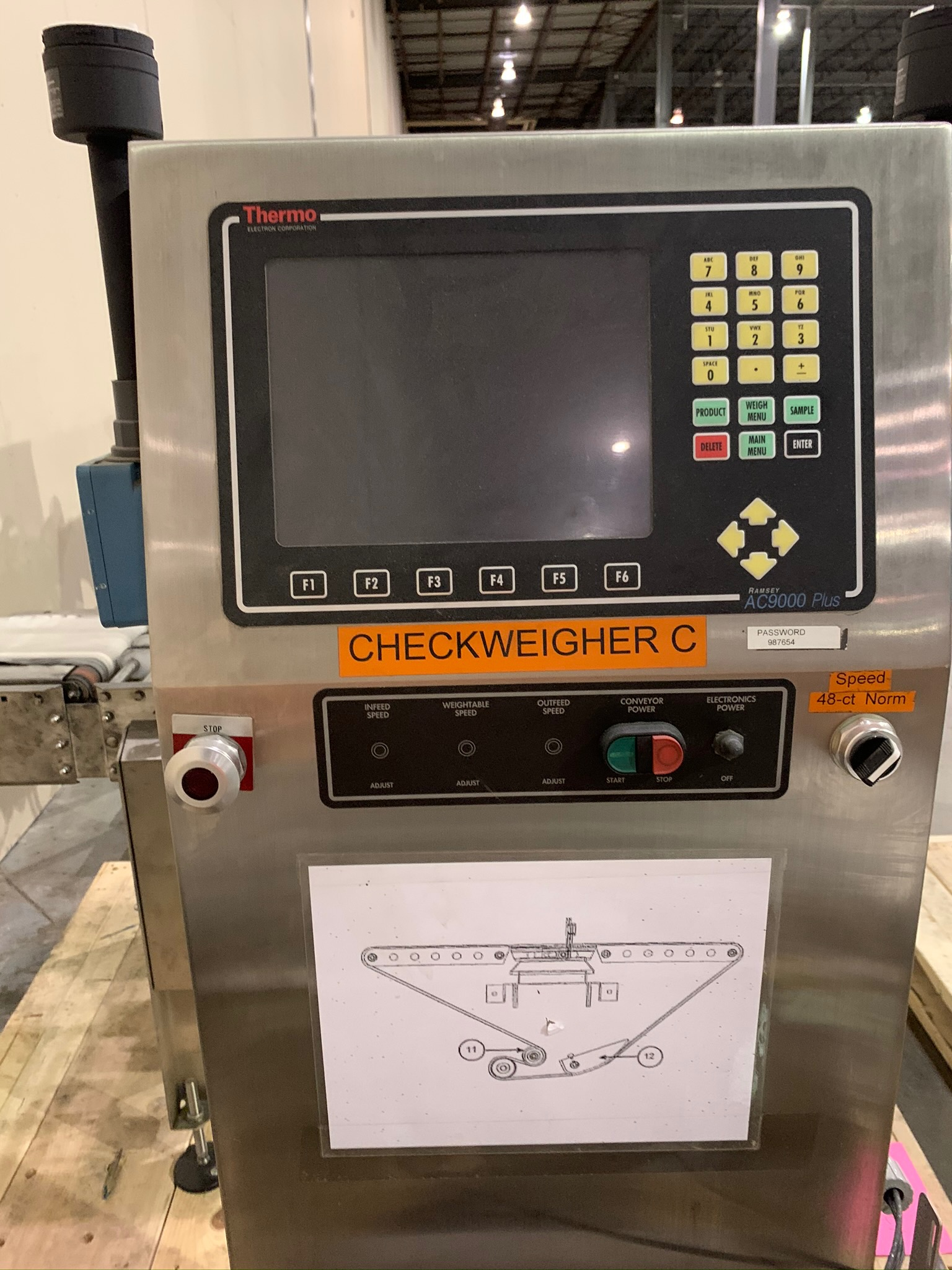 Thermo Scientific Check Weigher Model AC9000(p) -8120 S/N 08082736 (Rigging Fee - $50) - Image 2 of 4