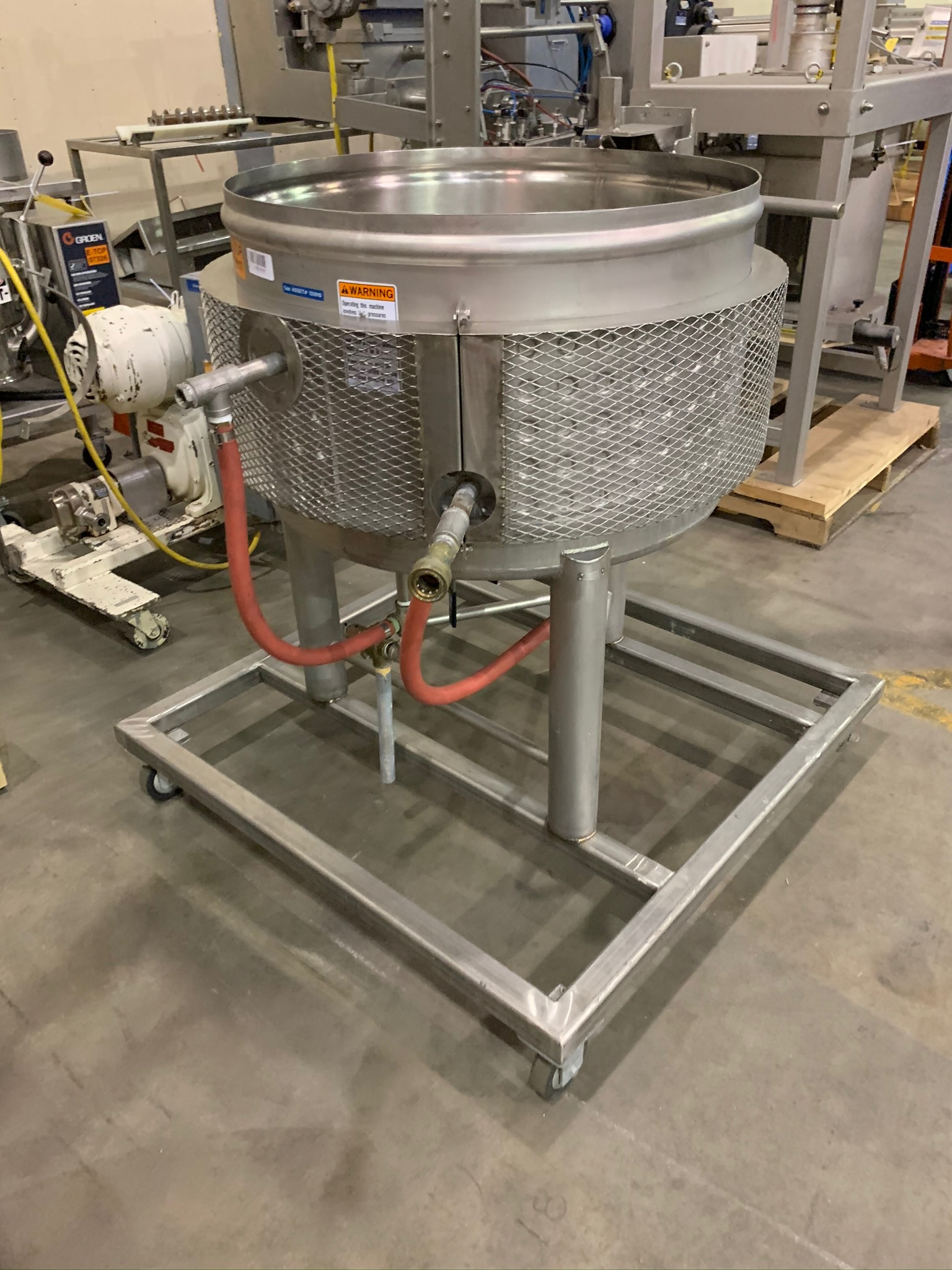 Approximate 25 Gallon Dimple Jacket Kettle Portable on Casters (Rigging Fee - $50) - Image 2 of 3