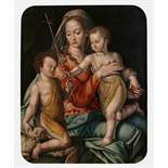FLEMISH MASTERLate 16th centuryTitle: Madonna and Child with the Infant Saint John the Baptist.