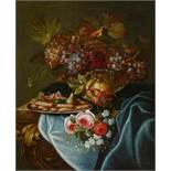 PFEILER, MAXIMILIAN1656 Prague - 1746 (?)Title: Magnificent Still Life with Grapes, Pomegranate,