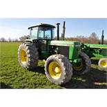 John Deere 4455 tractor, MFWD, 15-speed, power shift, 2 hydr remotes, 3-pt, 540-1000 PTO, 710/