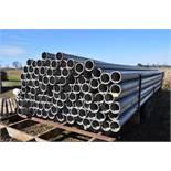 """92) 30'x 6"""" aluminum irrigation pipes"""